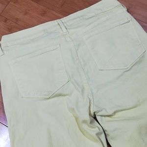 NYDJ Jeans - NYDJ Neon Yellow Ankle Pants